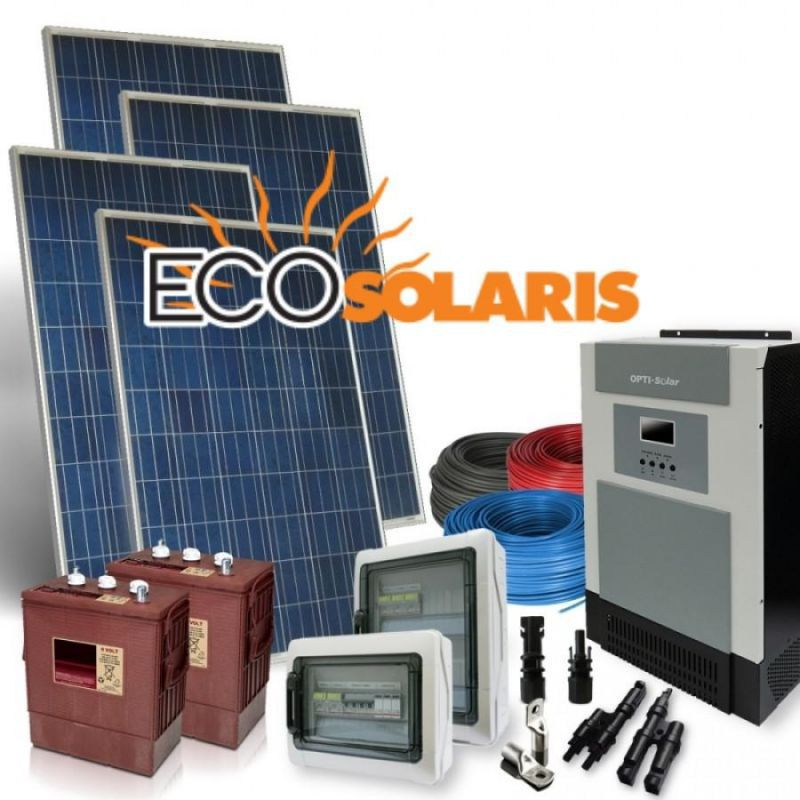 Kit solar fotovoltaic 1000W/24V 6kWh/zi - Panouri Fotovoltaice